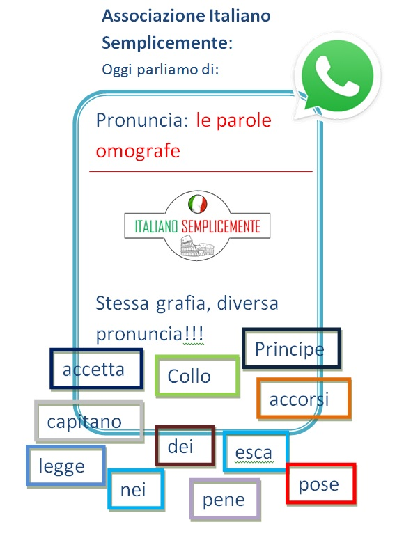 Le Parole Omografe Italianosemplicemente